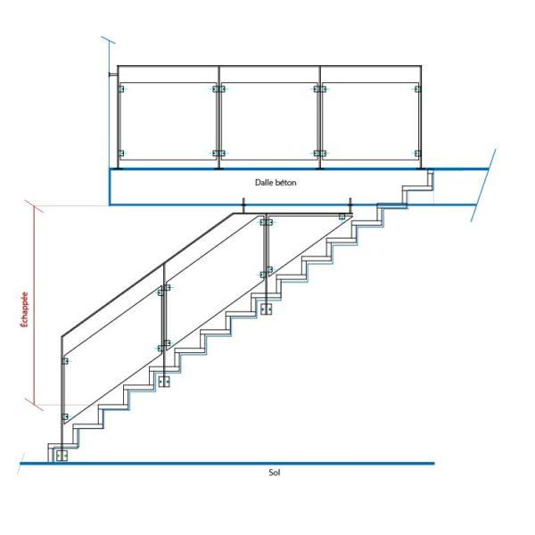 Échappe d'un escalier definition
