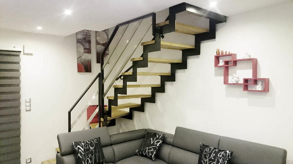escalier crémaillère métal