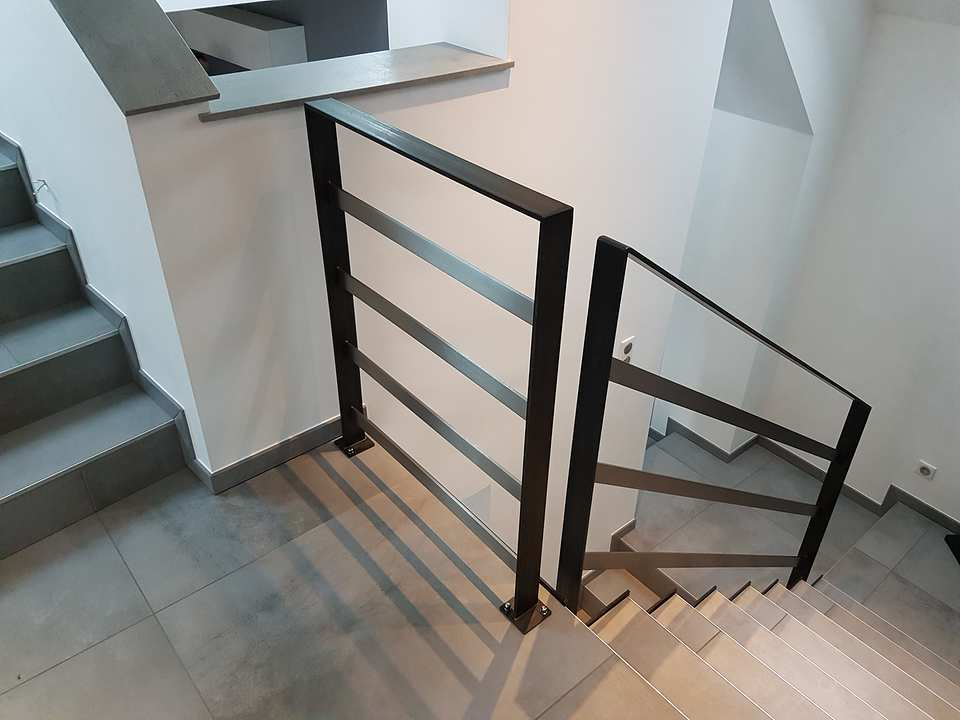 garde-corps escalier béton réalisé dans le Bas-Rhin (67)