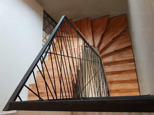 escalier limon central m tallique m tallerie bas rhin. Black Bedroom Furniture Sets. Home Design Ideas