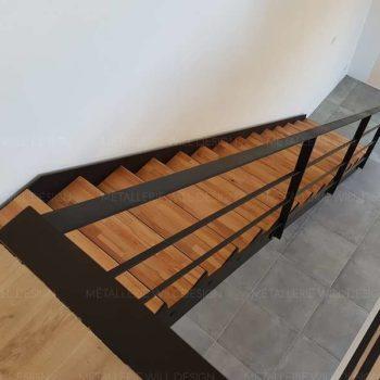 Chantier réalisé : Escalier métallique droit et garde-corps près d'Altkirch