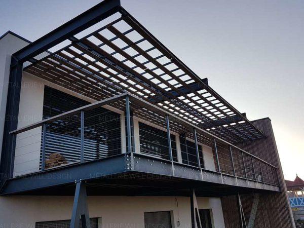 terrasse metallique suspendue couverte m tallerie bas rhin. Black Bedroom Furniture Sets. Home Design Ideas